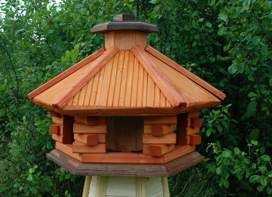 vogelhaus aus holz wooden bird feeder ebay. Black Bedroom Furniture Sets. Home Design Ideas