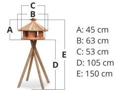 Wymiary Karmnik duży +stojak