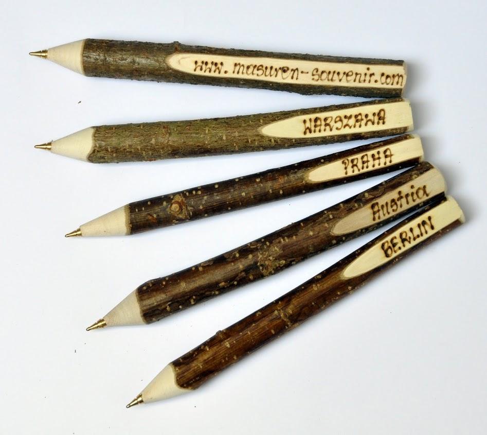 Długopis drewniany wypalany